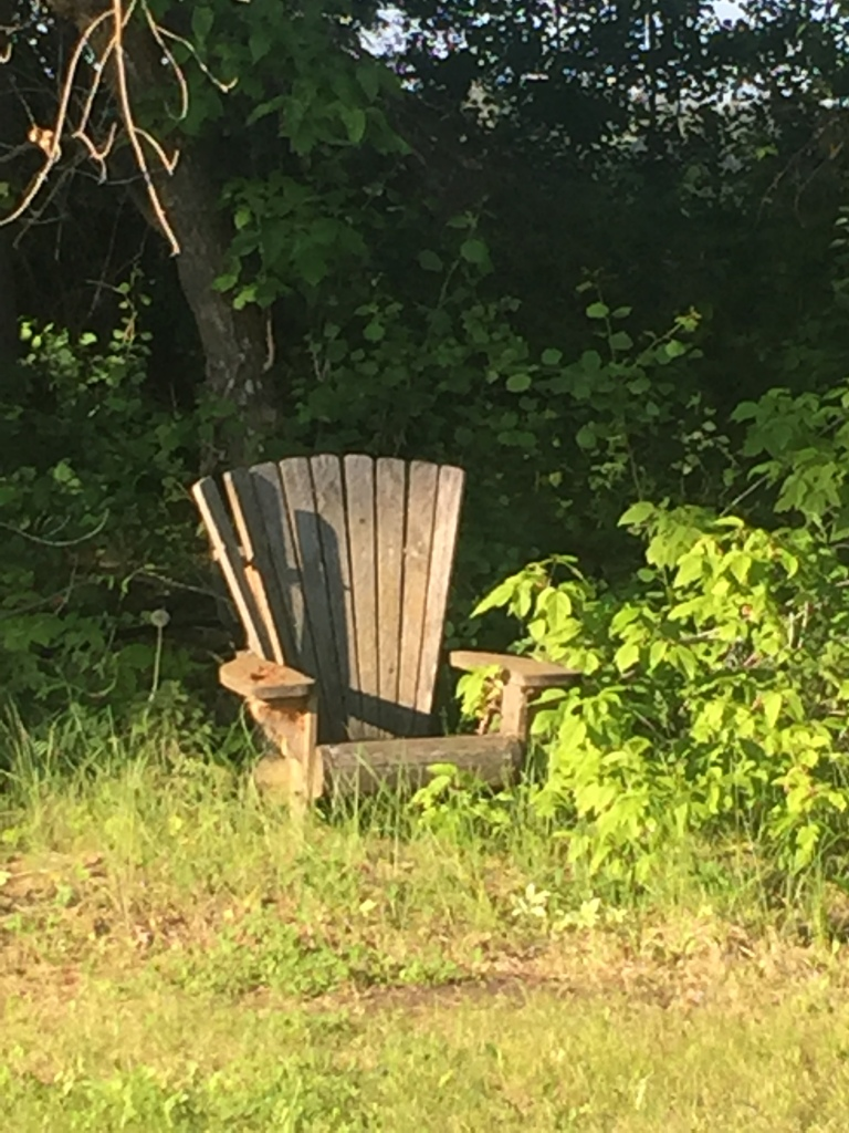Old Adirondack chair