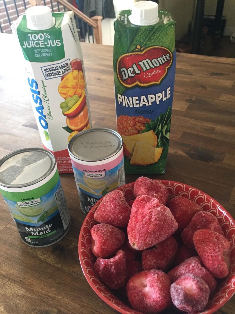 Slushee ingredients