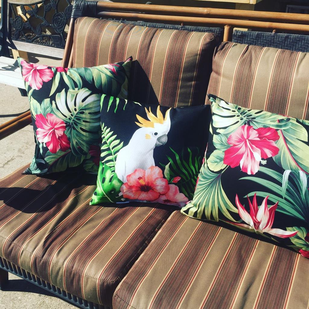 New deck cushions