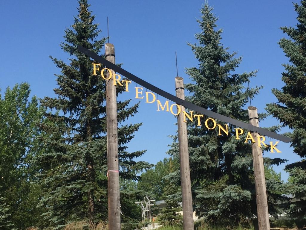 Fort Edmonton Park entrance sign