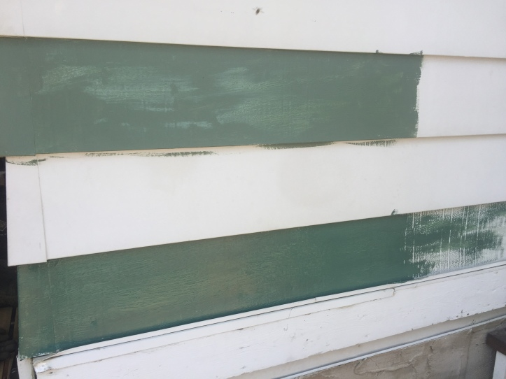 House paint two green options