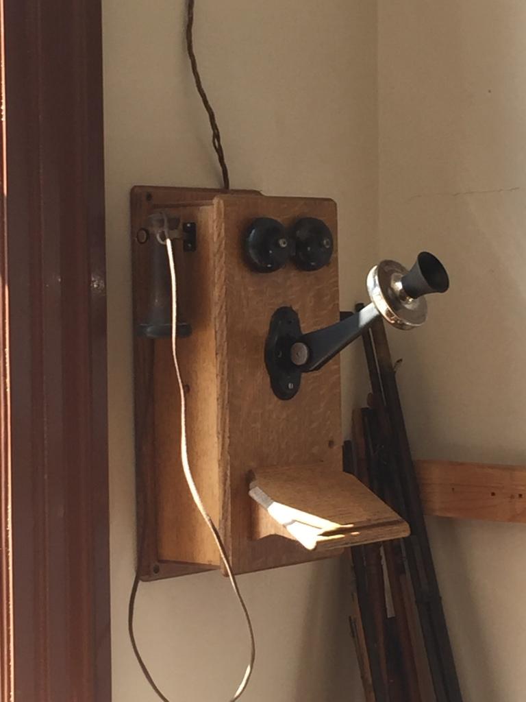 Old crank telephone