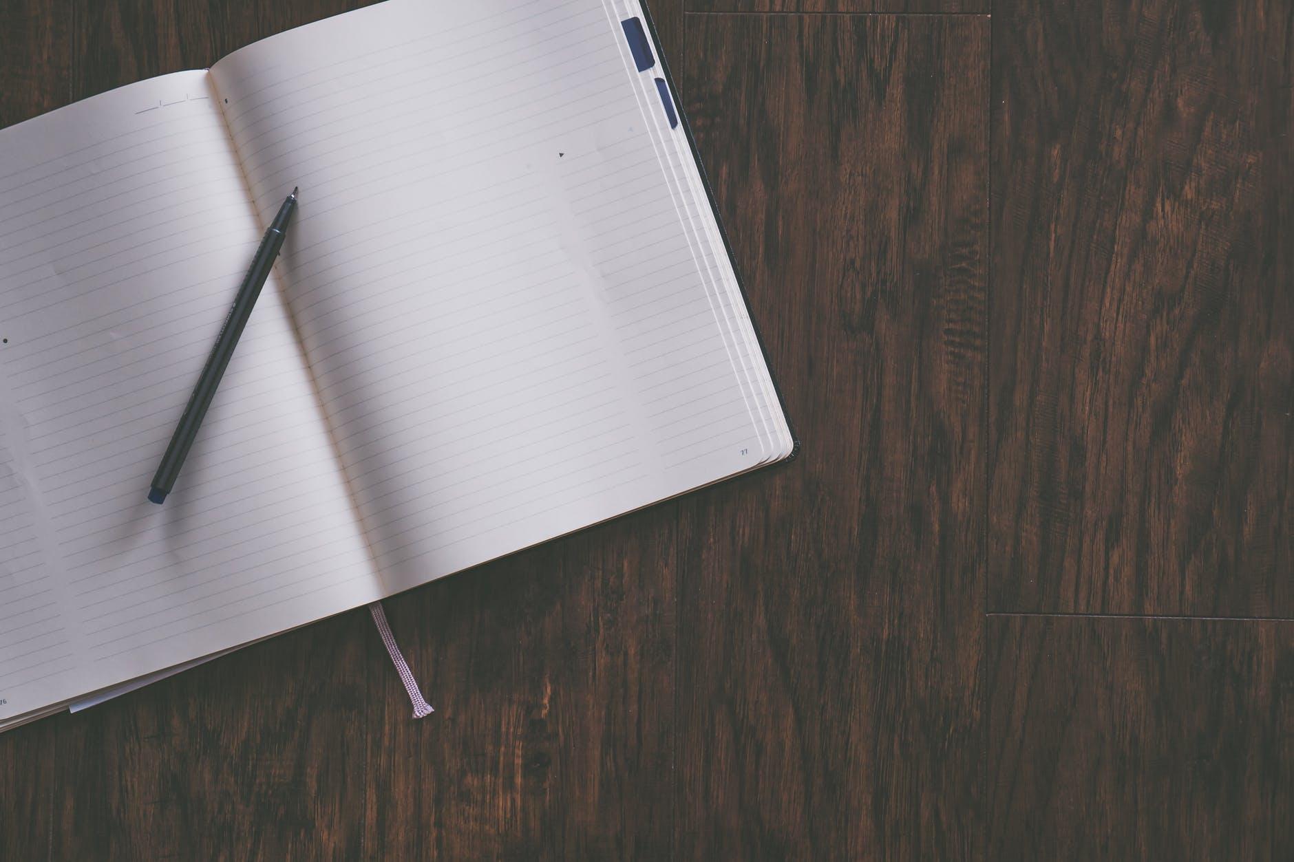 Blank scribbler page
