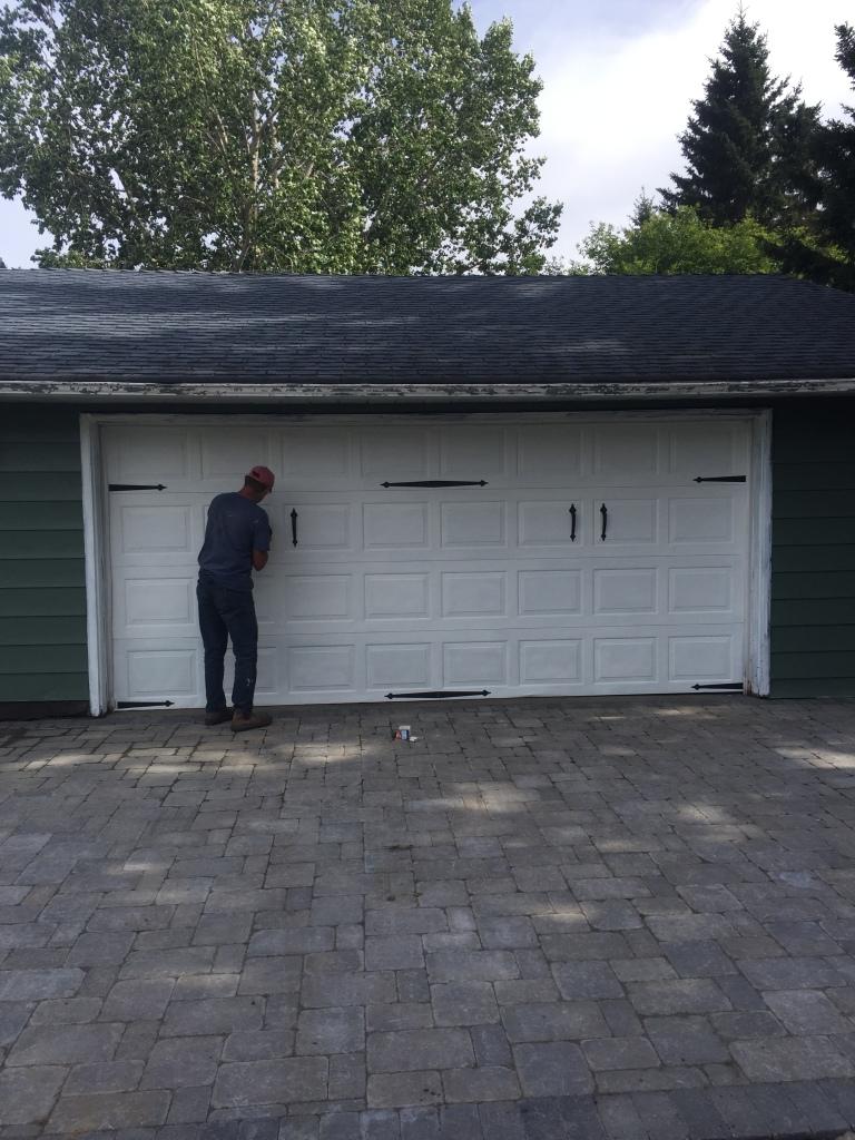 Garage carriage door accents